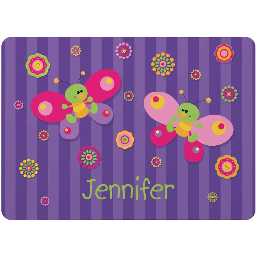 Personalized Mealtime Fun Kids Placemat, Available in 4 Patterns