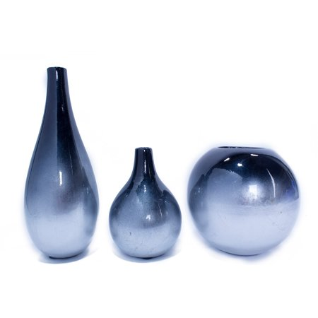 Heather Ann Creations Ophelia 3 Piece Ombre Vase Set