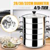 4/5-Tier Steamer Pot Multi-functional Stainless Steel Steamer Pot Soup Pot Steaming Cookware Boiler Fast Steaming