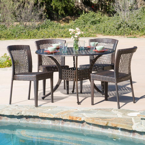 Highland Dunes Tumlin 5 Piece Dining Set