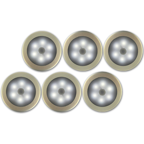 Image of ADX Stick Anywhere Magnetic Motion Night Light with Sticky Pad, 6pk