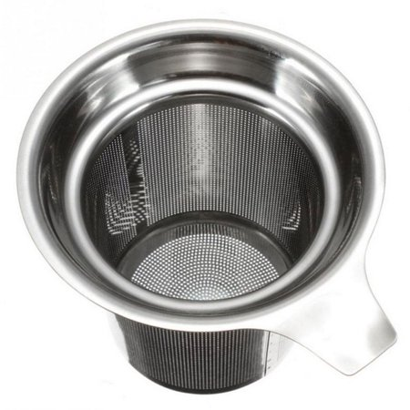 Tea Strainers Tea Leaves Separator Funnel Round Edge Single-Wire Mesh Filter Stainless