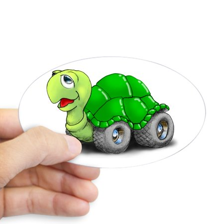 Speedy Turtle - CafePress - Speedy The Turtle Oval Sticker - Sticker (Oval)