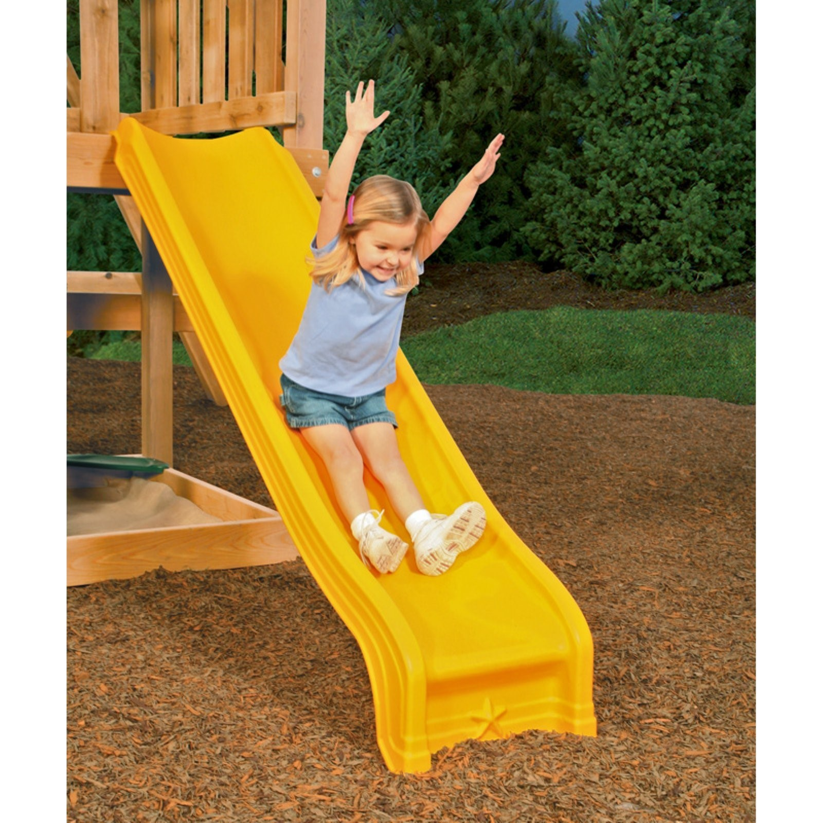 PlayStar Yellow Scoop Playground Slide