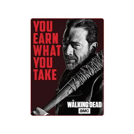 Walking Dead Throw Blankets Best The Walking Dead 60x60 Negan Fleece Throw Blanket Walmart