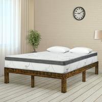 GranRest 14 Inch Solid Wood Platform Bed, Natural, Full