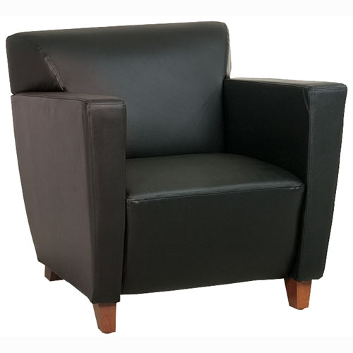 Black Bonded Leather Club Chair by Office Star Products