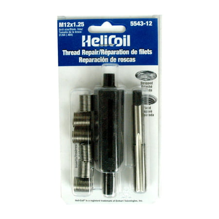 Helicoil 5543-12 Thread Repair Kit  Universal; M12 x 1.25 Thread Size; With 6 Heli-Coil Inserts/ Installation Tool/ Tap - image 1 de 1