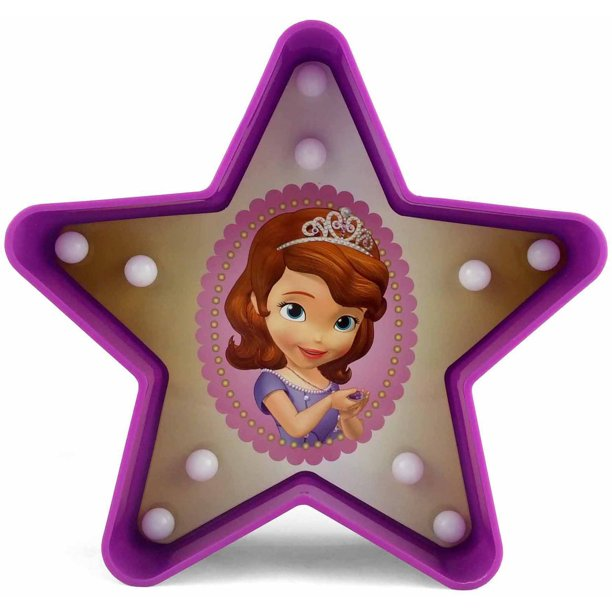 Disney Sofia the First Figural Star Marquee Light, 1 Each