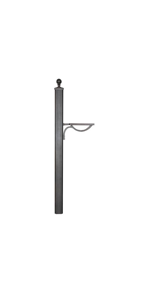 Main Street Square Mailbox Post (Black) by Special Lite Products Company, Inc