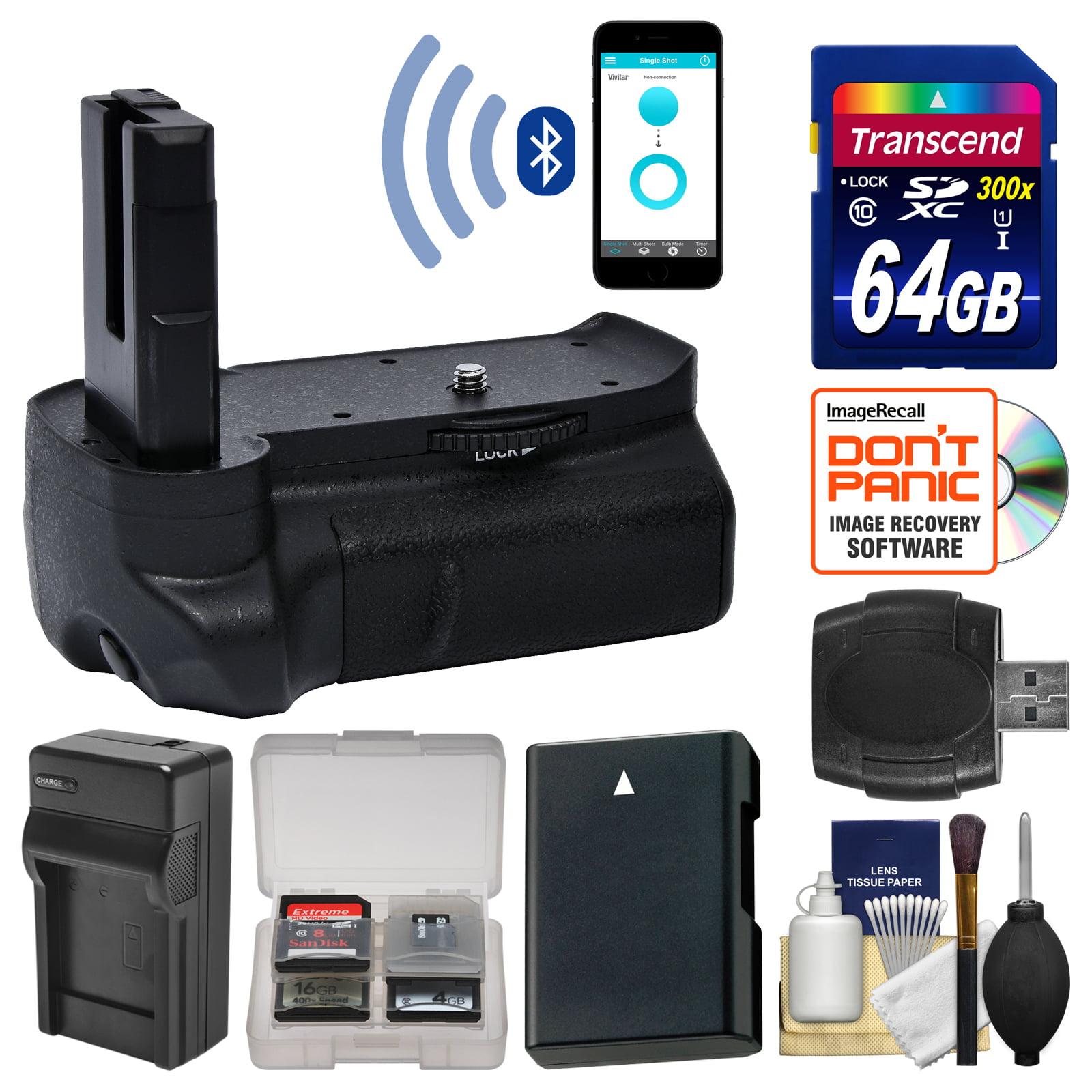 Vivitar Smart Bluetooth Smartphone Control Battery Grip for Nikon D3100, D3200 & D3300 DSLR Cameras with 64GB... by Vivitar