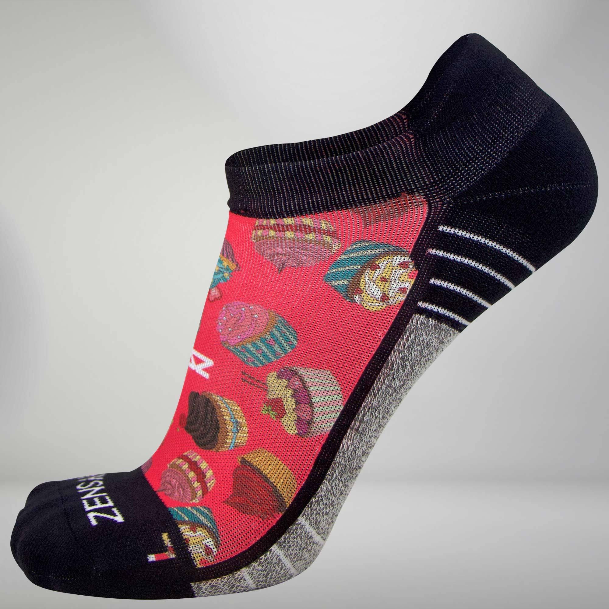 Zensah CUpcakes Socks (No Show) S / Coral