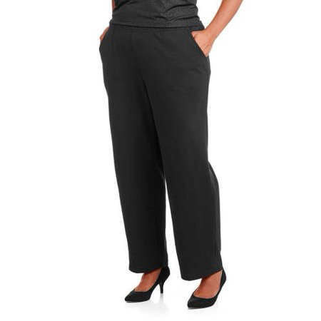 84dd8a36e50 White Stag - Women s Plus-Size Essential Pull-On Knit Pants - Walmart.com