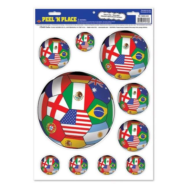Beistle 54452-INT Peel N Place - International - Case of 12