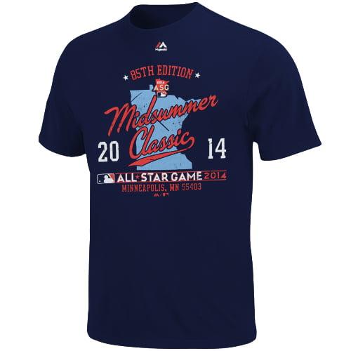 Minnesota Twins Majestic Women's Plus Sizes 2014 All-Star Game Rise Above T-Shirt - Navy - Plus XXL