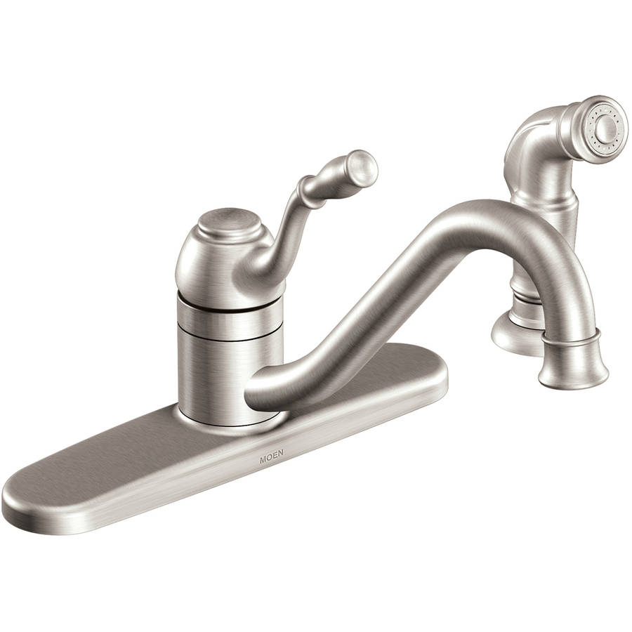 Moen CA87009 Chrome 1-Handle Kitchen Faucet with Side Spray