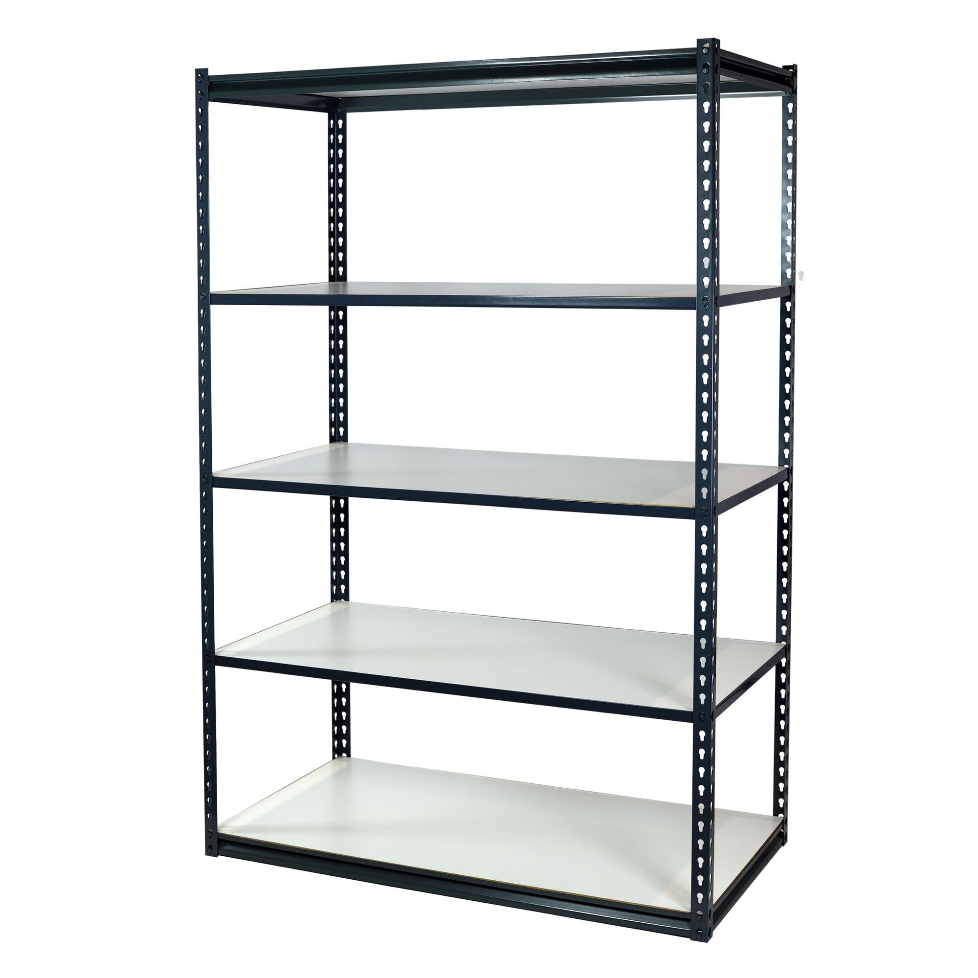 Storage Max Garage Shelving Boltless, 48 x 12 x 72, Heavy Duty, 5 Shelves