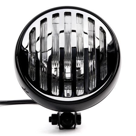"""Krator 6"""" Black & Chrome Motorcycle Headlight with Grill High Low Headlamp Bottom Mount for Suzuki Savage LS 650 - image 2 of 7"""