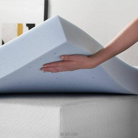 Lucid Comfort Collection Lucid Comfort Collection 4'' Gel Memory Foam Mattress Topper