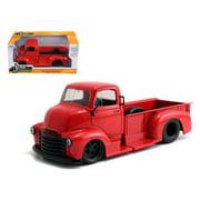 Jada 97046 1952 Chevrolet COE Pickup Truck Red with Black Wheels 1-24 Diecast Model