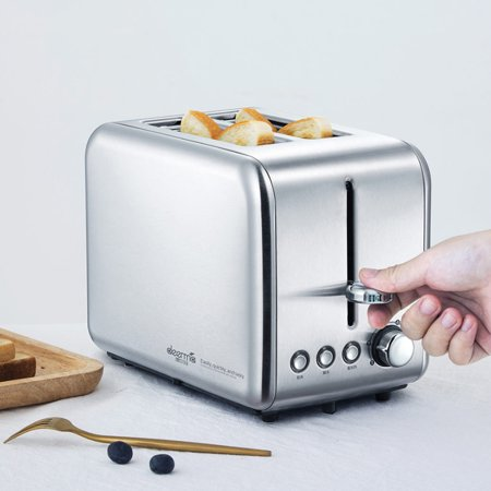 Xiaomi Deerma Bread Baking Machine Electric Toaster Household Automatic Breakfast Toast Sandwich Maker Reheat Kitchen Grill Oven Stainless Steel - image 1 of 7