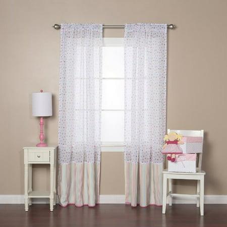 Polka Dot Sheer Curtains (Best Home Fashion, Inc. Polka Dots Sheer Rod Pocket Curtain Panels (Set of 2))