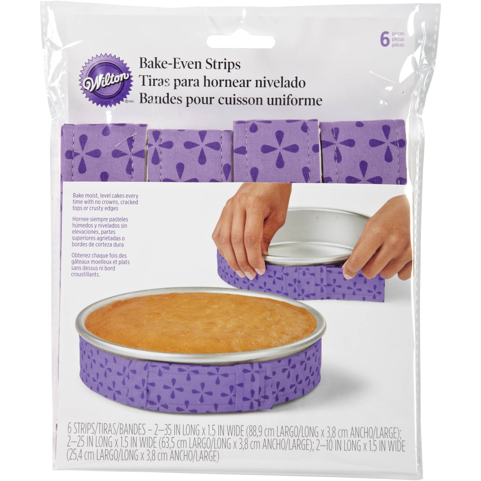Wilton Bake-Even Cake Strip Set, 6 ct. 415-0796