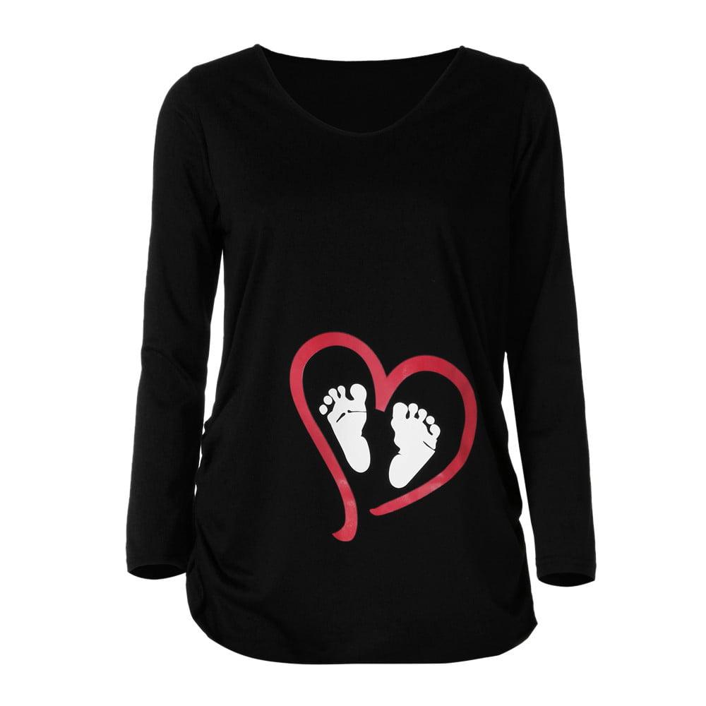 388357815f71f Mosunx - Mosunx Womens Long Sleeve Blouse Footprint Print For ...