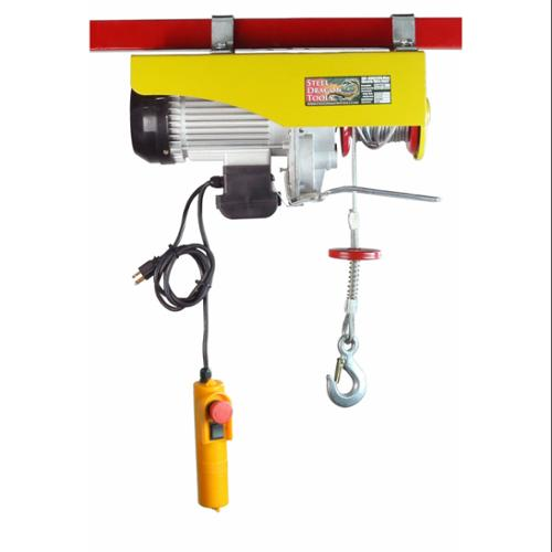 SDT 2200 LBS 1000 KGS Mini Electric Wire Hoist w/ 110v Motor Remote Controlled for Garage Auto Shop Overhead Crane Lift