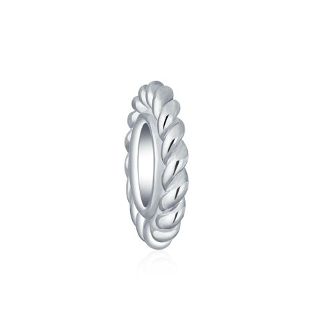 Bead Cable Thin Spacer Bead Charm For Women For Teen 925 Sterling Silver Fits European Bracelet