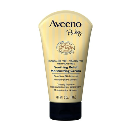Aveeno Baby Soothing Relief Moisturizing Cream with Natural Oat Complex, 5 (Best Natural Baby Cream)