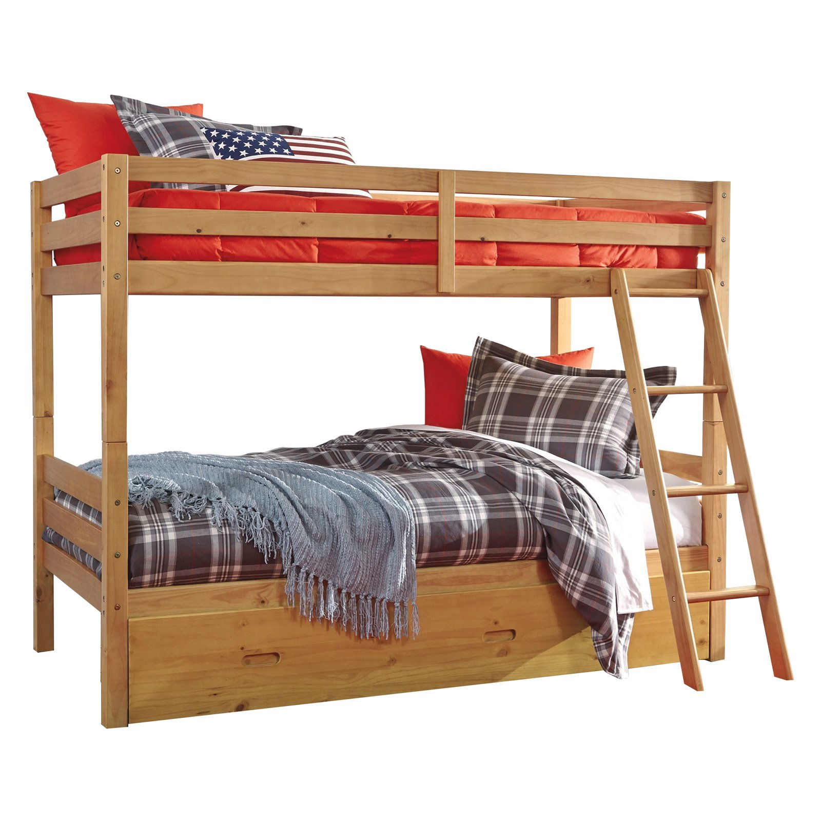 Signature Design By Ashley Hallytown Twin Over Full Bunk Bed With