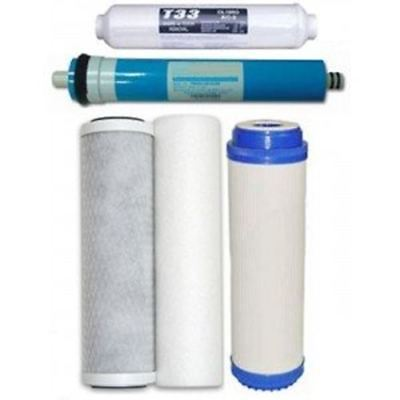 5 Stage Reverse Osmosis RO Water Filters Replacement Set with 50 GPD Membrane BY
