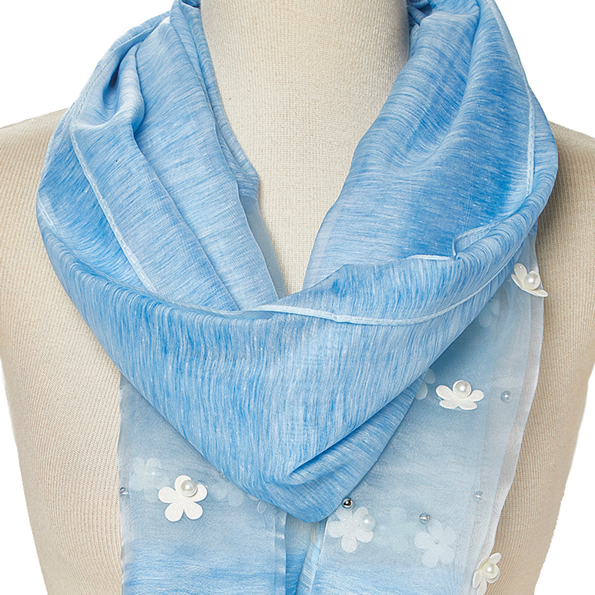 design senza tempo store caratteristiche eccezionali Blue Scarfs for Women Winter Fashion Lightweight Scarves Evening Prom Scarf  Flower Casual Long Neck Wrap Gift Accessories Online