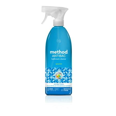 Method Antibacterial Bathroom Cleaner,Spearmint, 28 fl oz (Green Bathroom Cleaner)