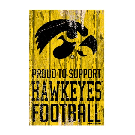 Iowa Hawkeyes Official NCAA Sign 11x17 Wood by Wincraft 877093