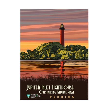 Jupiter Inlet Lighthouse Outstanding Natural Area In Florida Print Wall Art By Bureau of Land Management