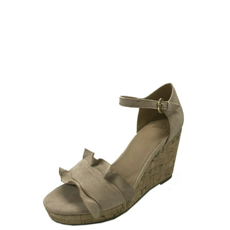 Womens Time And Tru Ruffle Sandal