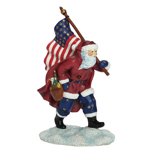 Precious Moments Patriotic Santa Figurine