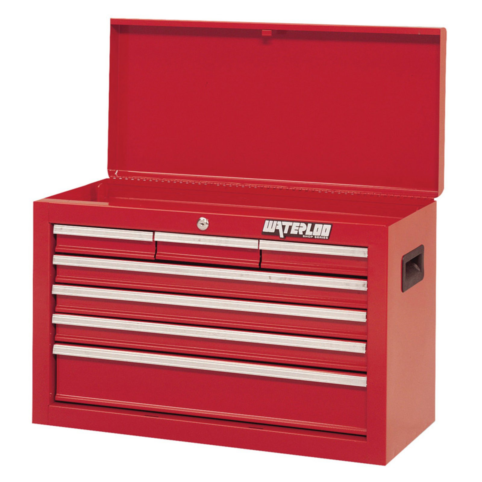 Marvelous Waterloo Shop Series 26 In. Red 7 Drawer Chest