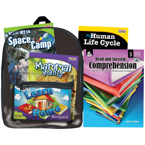 Shell Education Learning At Home Backpack, Grade 3 Reading