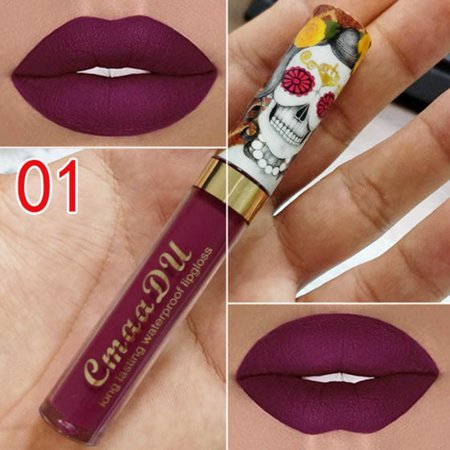 New Makeup Cosmetic Matte Long Lasting Vintage Style Soft Lip Liquid Lipstick Lip Gloss HITC