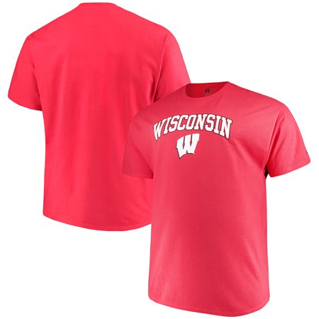 Men's Russell Red Wisconsin Badgers Big & Tall Classic Crew Neck T-Shirt