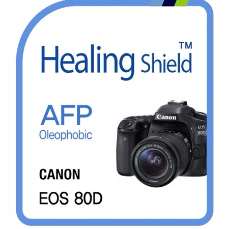 Healingshield Screen Protector Oleophobic AFP Clear Film for Canon Camera EOS-80D