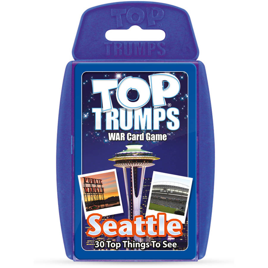 """Top Trumps Seattle """"30 Things to See and Do"""" Card Game"""