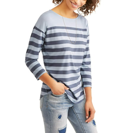 Women's 3/4 Sleeve Classic Boatneck T-Shirt