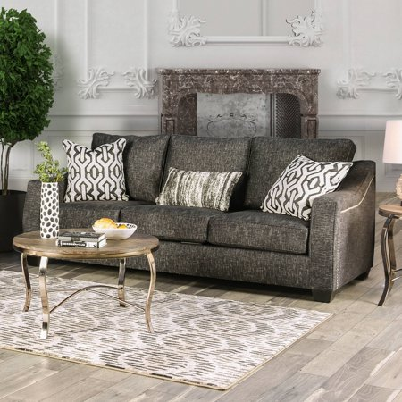 Furniture Of America Reynolds Gray Nailhead Sofa