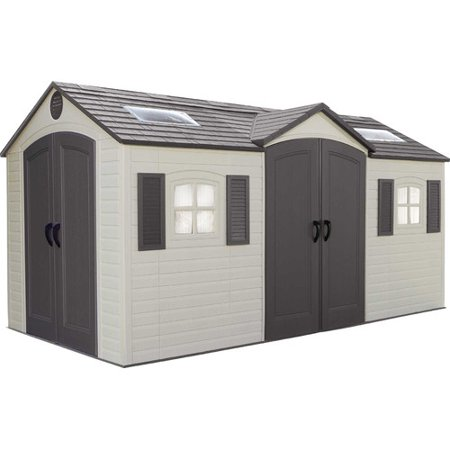 Lifetime Dual Entry 14 Ft 7 In W X 7 Ft 8 In D Plastic