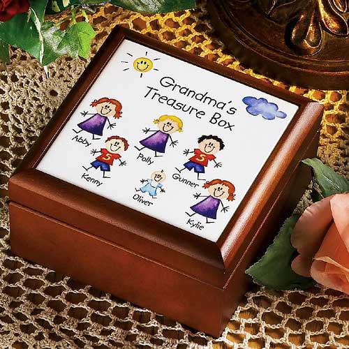Personalized Family Character Keepsake Box