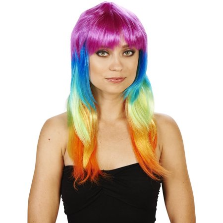 Colorful Adult Wig Halloween Accessory](Colorful Wigs)